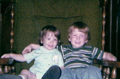 Eric & Josh - August 1978 - Enhanced